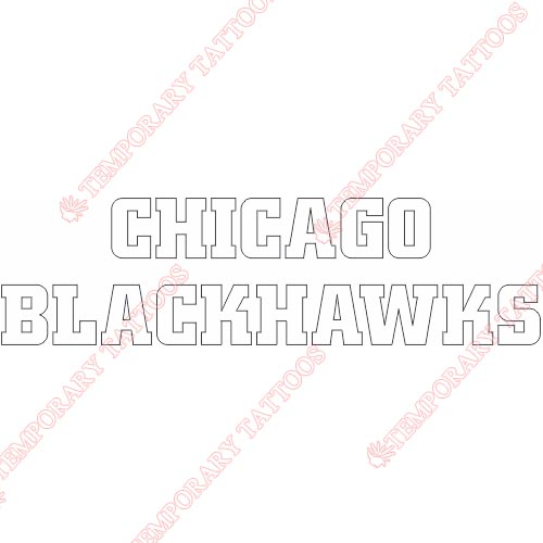 Chicago Blackhawks Customize Temporary Tattoos Stickers NO.115