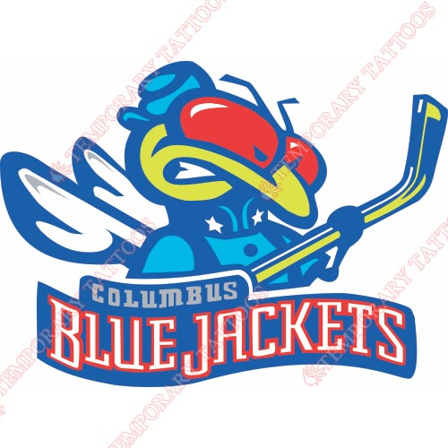 Columbus Blue Jackets Customize Temporary Tattoos Stickers NO.127