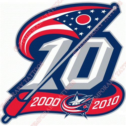 Columbus Blue Jackets Customize Temporary Tattoos Stickers NO.128