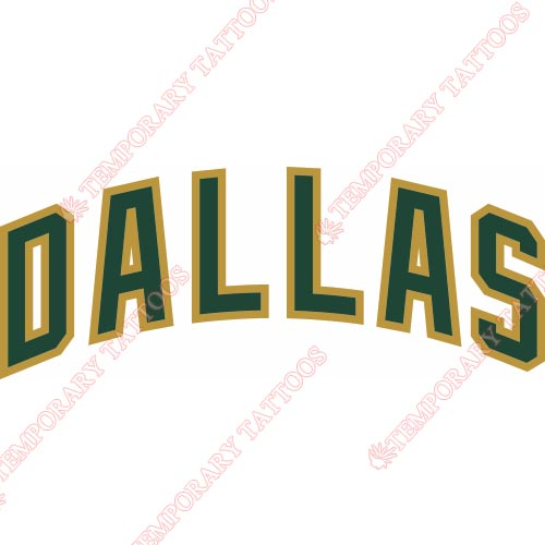 Dallas Stars Customize Temporary Tattoos Stickers NO.130