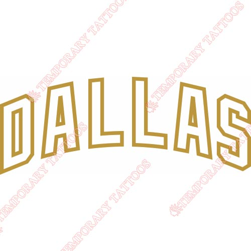 Dallas Stars Customize Temporary Tattoos Stickers NO.131