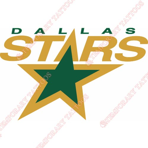 Dallas Stars Customize Temporary Tattoos Stickers NO.132