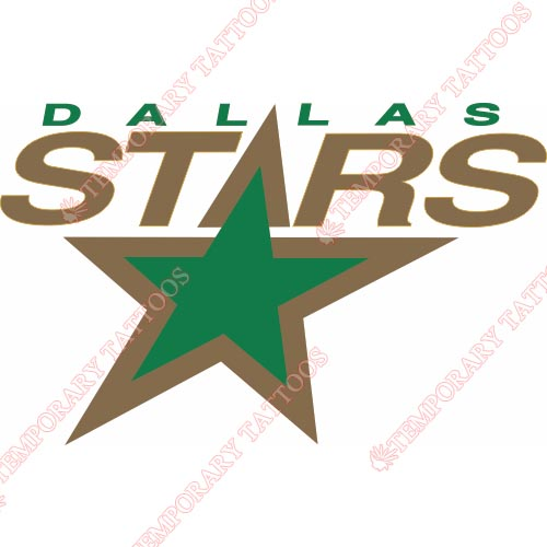 Dallas Stars Customize Temporary Tattoos Stickers NO.133