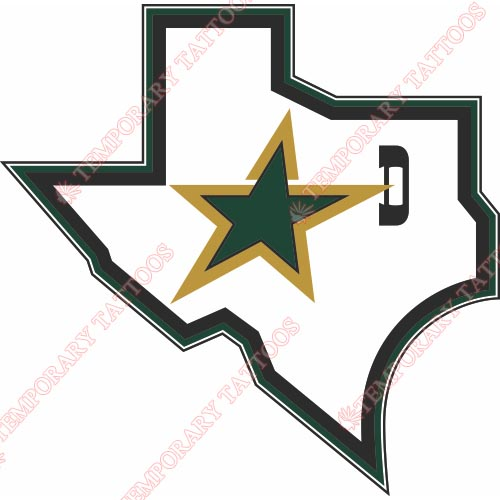 Dallas Stars Customize Temporary Tattoos Stickers NO.134