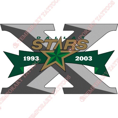 Dallas Stars Customize Temporary Tattoos Stickers NO.135
