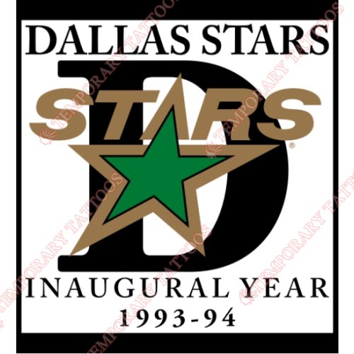 Dallas Stars Customize Temporary Tattoos Stickers NO.136