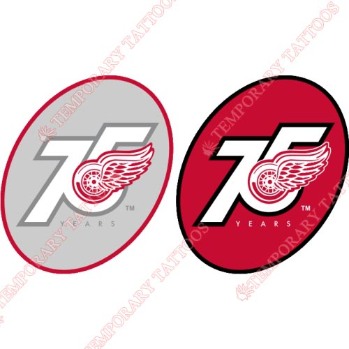 Detroit Red Wings Customize Temporary Tattoos Stickers NO.142