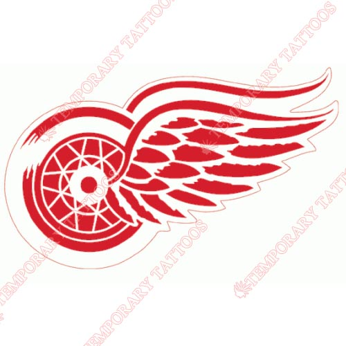Detroit Red Wings Customize Temporary Tattoos Stickers NO.146