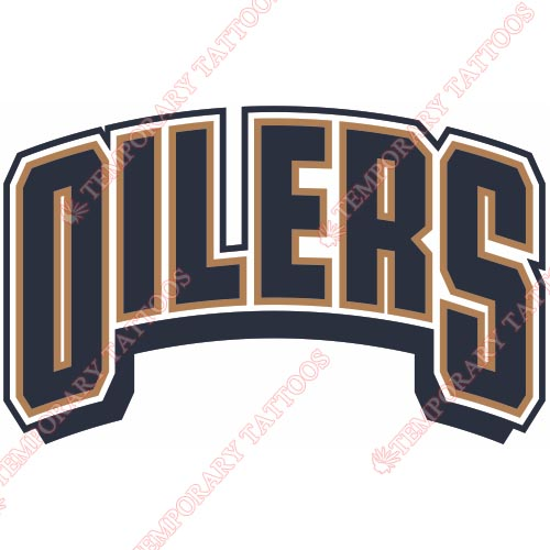 Edmonton Oilers Customize Temporary Tattoos Stickers NO.147