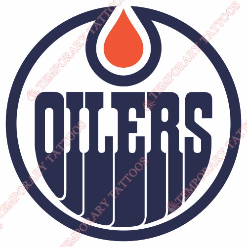 Edmonton Oilers Customize Temporary Tattoos Stickers NO.148