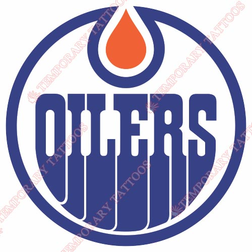 Edmonton Oilers Customize Temporary Tattoos Stickers NO.150