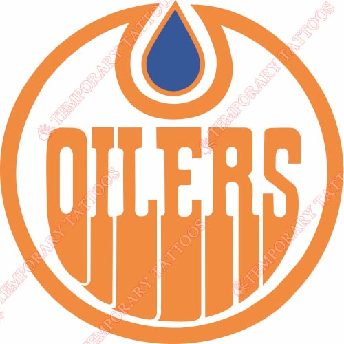 Edmonton Oilers Customize Temporary Tattoos Stickers NO.152