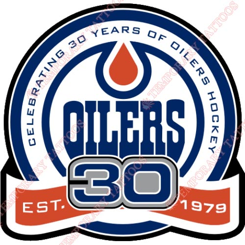 Edmonton Oilers Customize Temporary Tattoos Stickers NO.153