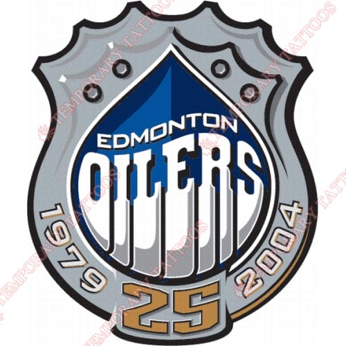 Edmonton Oilers Customize Temporary Tattoos Stickers NO.154