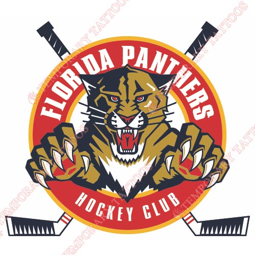 Florida Panthers Customize Temporary Tattoos Stickers NO.162