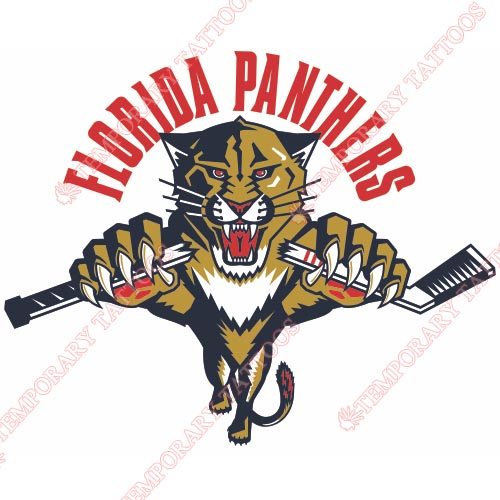 Florida Panthers Customize Temporary Tattoos Stickers NO.163