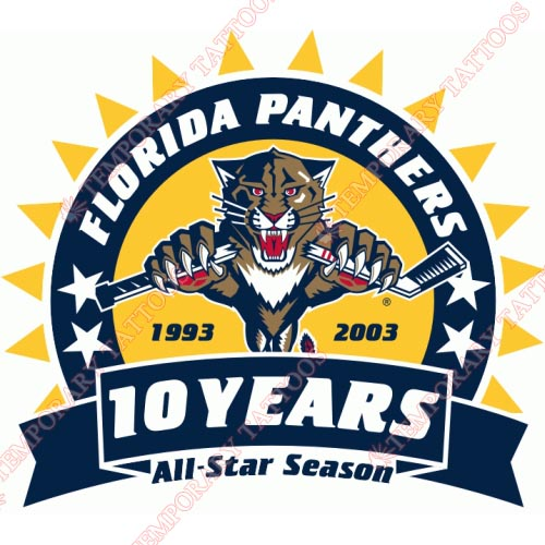 Florida Panthers Customize Temporary Tattoos Stickers NO.165