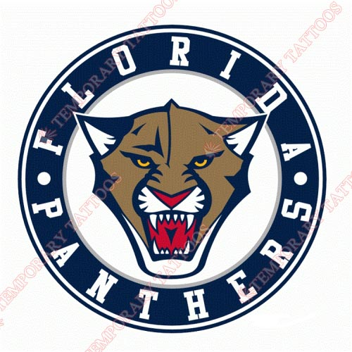 Florida Panthers Customize Temporary Tattoos Stickers NO.169