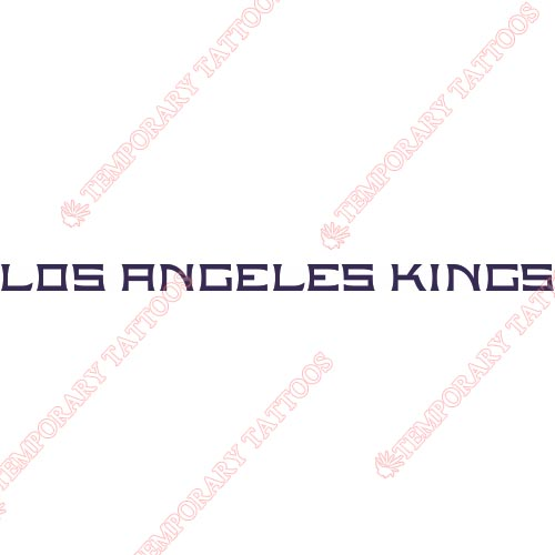 Los Angeles Kings Customize Temporary Tattoos Stickers NO.171