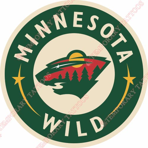 Minnesota Wild Customize Temporary Tattoos Stickers NO.194