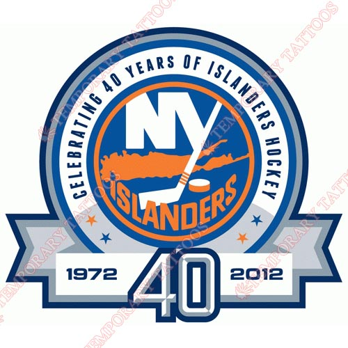New York Islanders Customize Temporary Tattoos Stickers NO.234