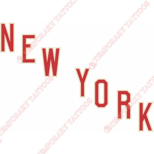 New York Rangers Customize Temporary Tattoos Stickers NO.238