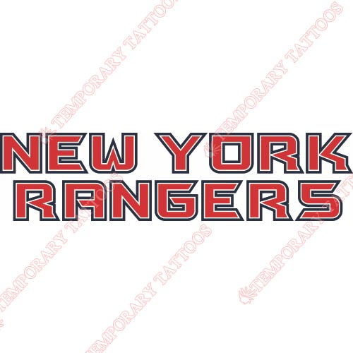 New York Rangers Customize Temporary Tattoos Stickers NO.239