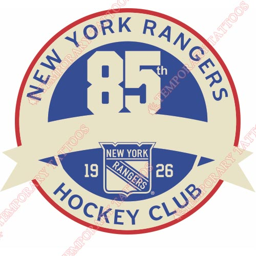 New York Rangers Customize Temporary Tattoos Stickers NO.244