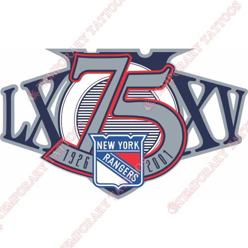 New York Rangers Customize Temporary Tattoos Stickers NO.245