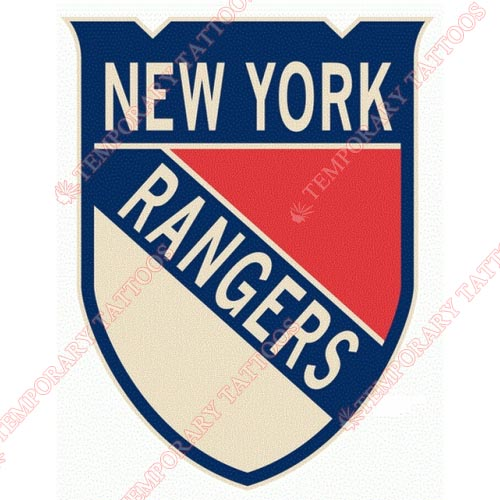 New York Rangers Customize Temporary Tattoos Stickers NO.250