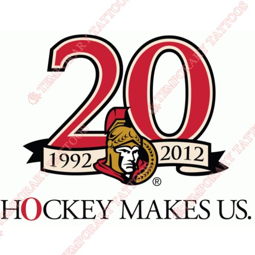 Ottawa Senators Customize Temporary Tattoos Stickers NO.279
