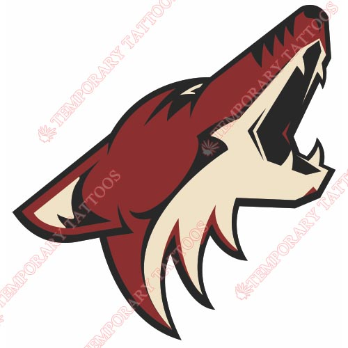 Phoenix Coyotes Customize Temporary Tattoos Stickers NO.290