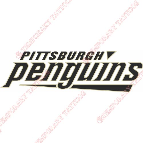 Pittsburgh Penguins Customize Temporary Tattoos Stickers NO.298