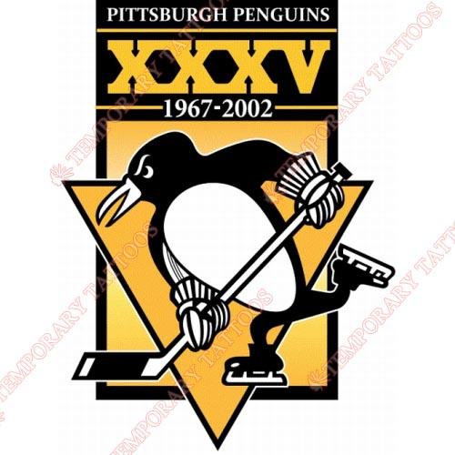 Pittsburgh Penguins Customize Temporary Tattoos Stickers NO.304