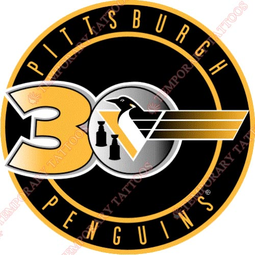 Pittsburgh Penguins Customize Temporary Tattoos Stickers NO.305