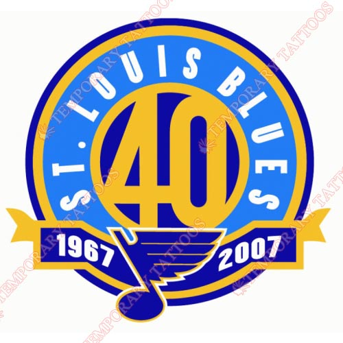 St.Louis Blues Customize Temporary Tattoos Stickers NO.325