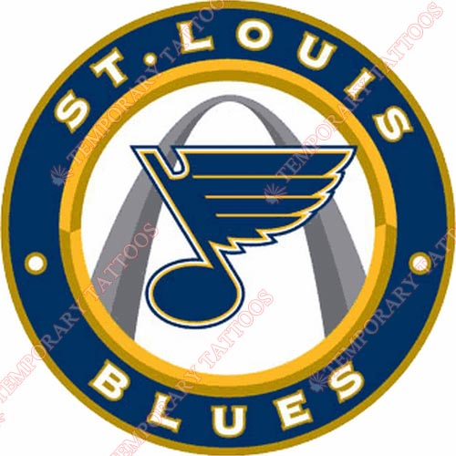 St.Louis Blues Customize Temporary Tattoos Stickers NO.328