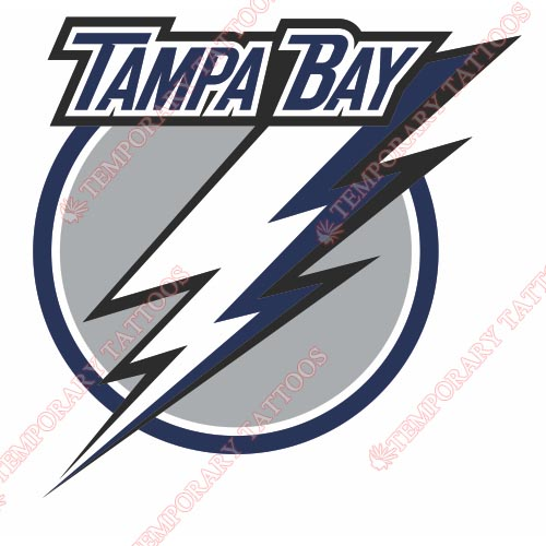 Tampa Bay Lightning Customize Temporary Tattoos Stickers NO.335
