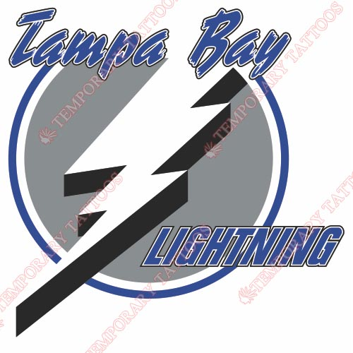 Tampa Bay Lightning Customize Temporary Tattoos Stickers NO.337