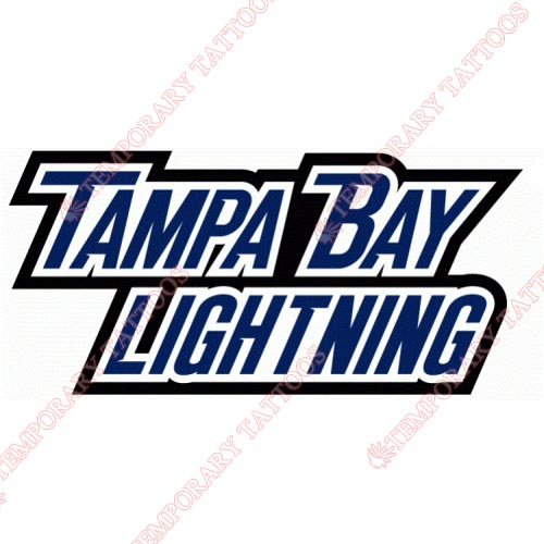 Tampa Bay Lightning Customize Temporary Tattoos Stickers NO.342