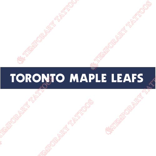 Toronto Maple Leafs Customize Temporary Tattoos Stickers NO.344