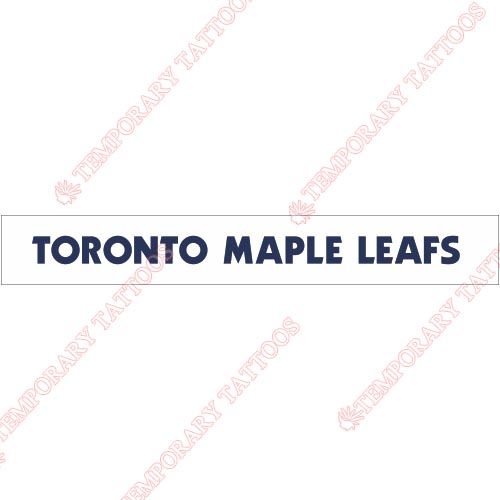Toronto Maple Leafs Customize Temporary Tattoos Stickers NO.345