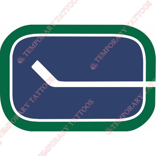 Vancouver Canucks Customize Temporary Tattoos Stickers NO.358