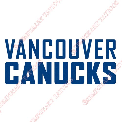 Vancouver Canucks Customize Temporary Tattoos Stickers NO.363