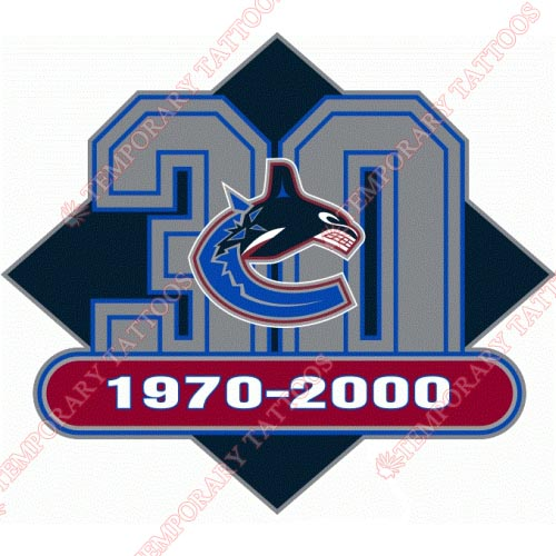 Vancouver Canucks Customize Temporary Tattoos Stickers NO.365