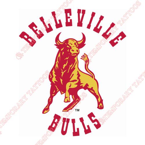 Belleville Bulls Customize Temporary Tattoos Stickers NO.7315
