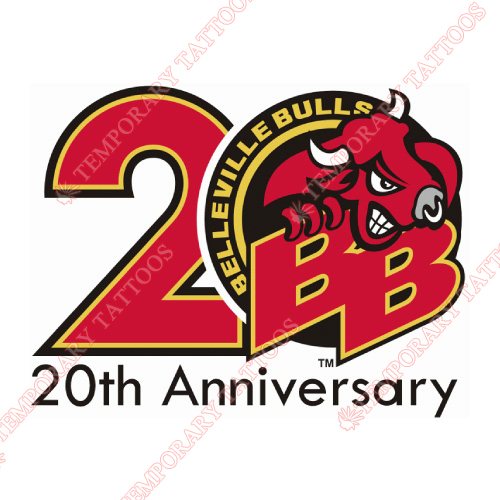 Belleville Bulls Customize Temporary Tattoos Stickers NO.7316
