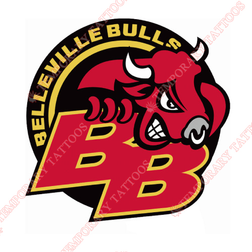 Belleville Bulls Customize Temporary Tattoos Stickers NO.7319