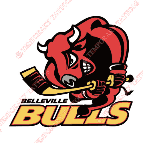 Belleville Bulls Customize Temporary Tattoos Stickers NO.7320