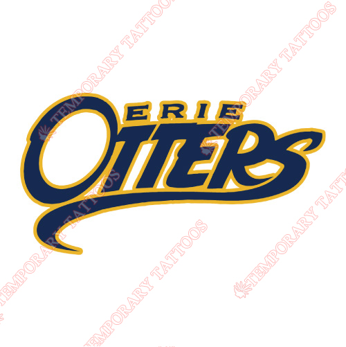 Erie Otters Customize Temporary Tattoos Stickers NO.7321